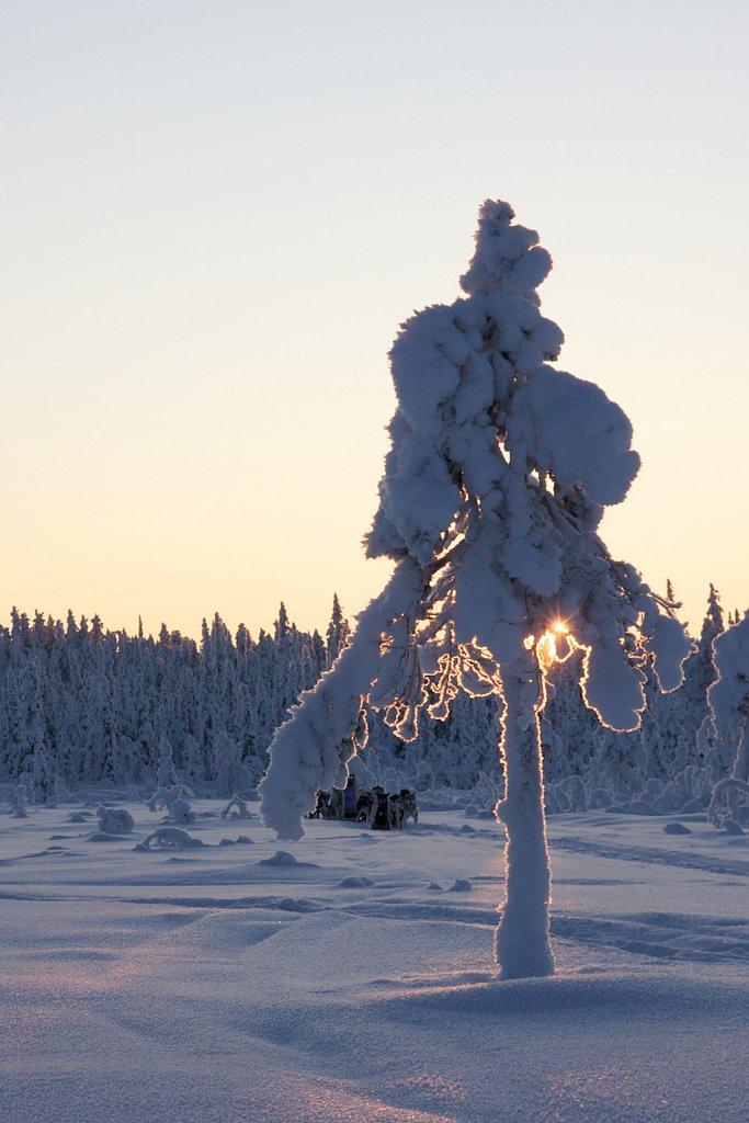 Lappland tief verschneit